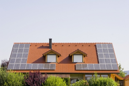Home with Solar Heating